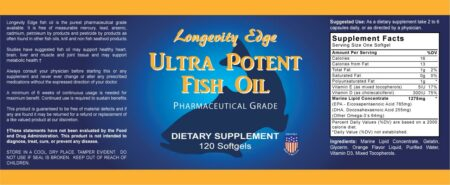 Ultra Potent Pharmaceutical Grade Fish Oil Label